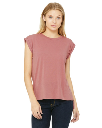 Flowy Muscle T-shirt with rolled cuff for festival