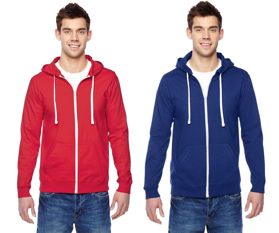 SF60R Fruit of the Loom Softspun Cotton Jersey Full-Zip Hoodie